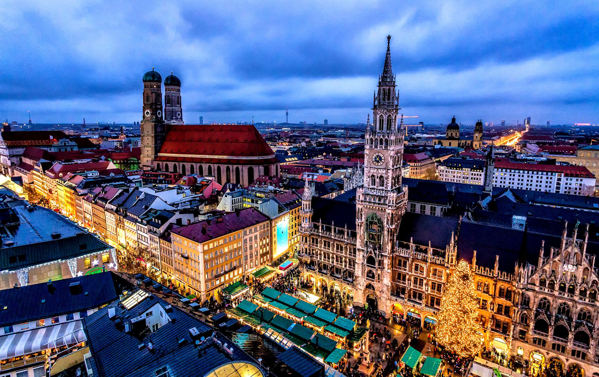 Обои германия, Пейзаж, Новая ратуша, ганновер, пруд. Города foto 15