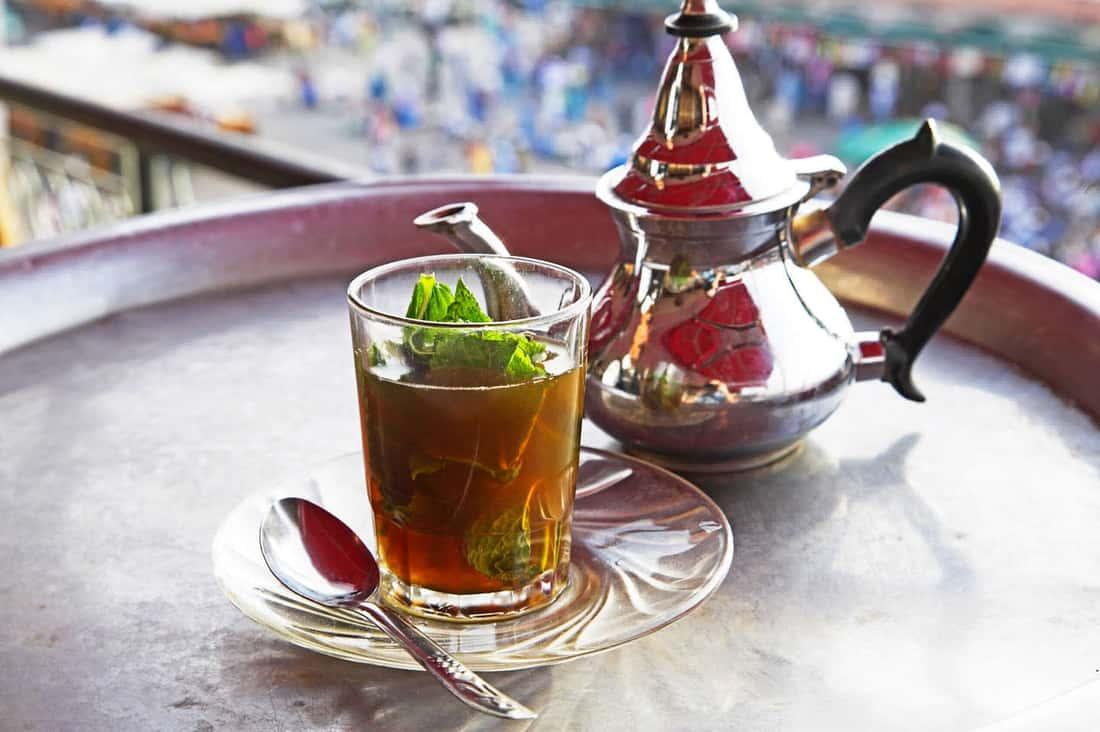 Мятный чай, отлично утолит жажду