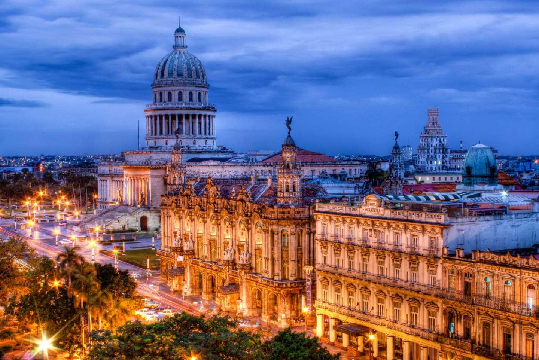 Обои куба, havana, ночь, Old Havana, Гавана. Города foto 17