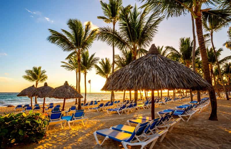 Пляж в одном из отелей