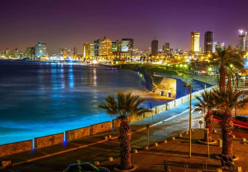 Ночной Тель-Авив, Израиль