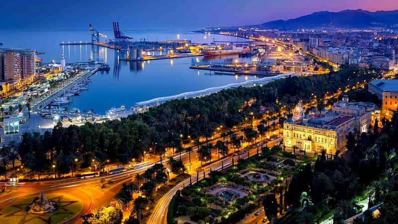 Вид на побережье Малаги, Испания