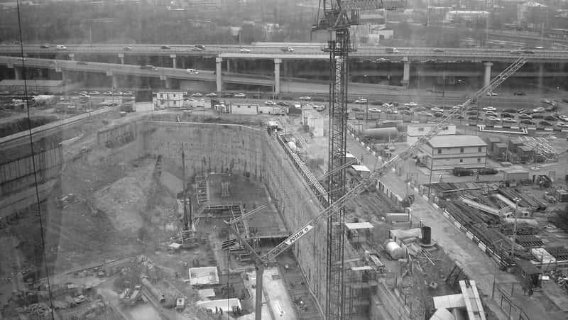 ММДЦ Москва Сити на этапе строительства
